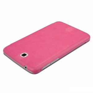 Чехол (книжка) BASEUS Folio розовый для Samsung Tab 3 7.0