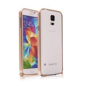 Чехол-бампер для Samsung Galaxy S5 - Xuenair золотистый