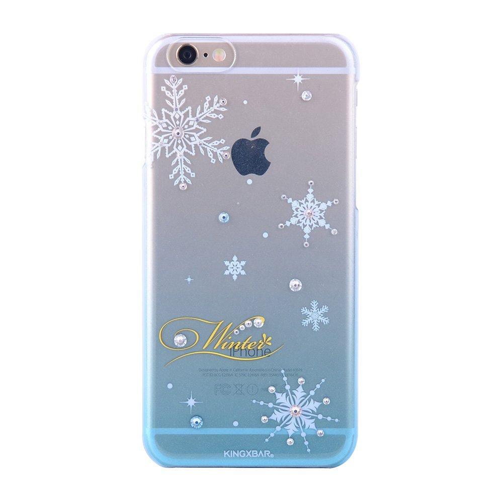 Чехол-накладка для Apple iPhone 6/6S - Kingxbar Christmas Winter голубой