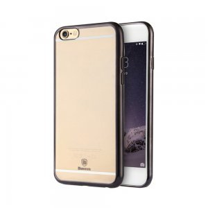Силиконовый чехол Baseus Shining чёрный для iPhone 6/6S