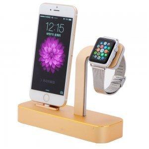Док-станция COTEetCI Base5 золотистая для iPhone, Apple Watch