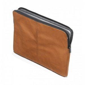 "Кожаный чехол Decoded Sleeve with Zipper Pocket коричневый для MacBook 12"""