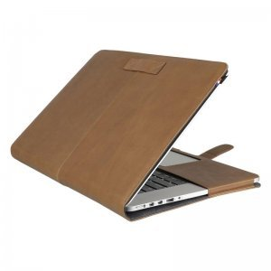 """Кожаный чехол Decoded SlimCover коричневый для MacBook Air 13"""" (D4MA13SC1BNCV)"""