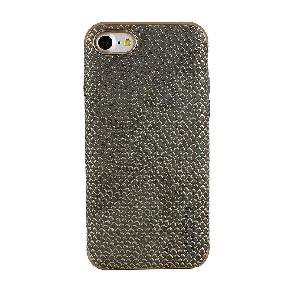 Кожаный чехол Polo Viper Adder серый для iPhone 8/7