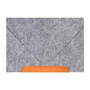 """Чехол-конверт Gmakin GM10 серый + коричневый для MacBook Air 13""""/Pro 13""""/ Pro 13"""" Retina"""