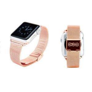 Ремешок Coteetci W2 розовый для Apple Watch 42/44 мм