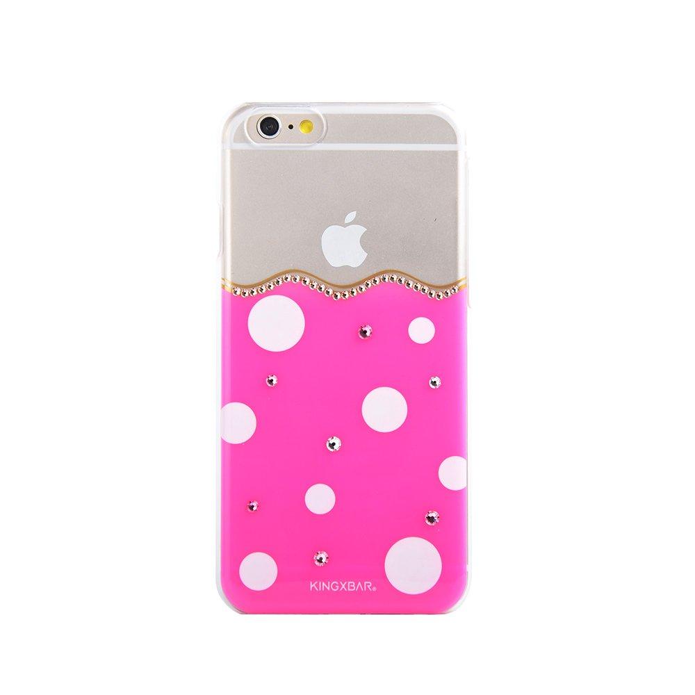 Чехол-накладка для Apple iPhone 6/6S - Kingxbar Polka-Dot розовый