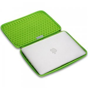 "Чехол-карман для Apple MacBook Pro 15""/Pro Retina 15"" - Runetz Neoprene Sleeve серый + зеленый"