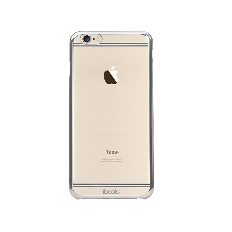 Чехол-накладка для iPhone 6 Plus/6S Plus - iBacks iFling Electroplating прозрачный + серебристый