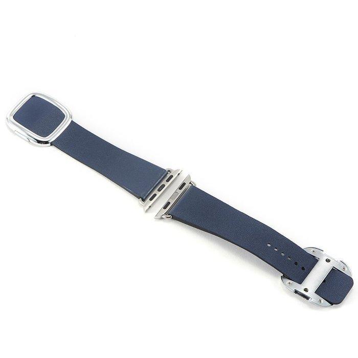 Ремешок для Apple Watch 38/40 мм - Coteetci W5 Nobleman синий