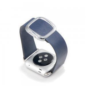 Ремешок для Apple Watch 38mm - Coteetci W5 Nobleman синий