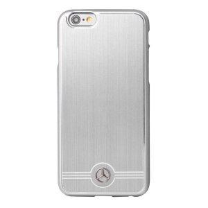 Чехол-накладка для Apple iPhone 6/6S - Mercedes Pure Line серебристый
