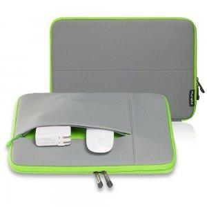 "Чехол-карман для Apple MacBook 13"" - Runetz Neoprene Sleeve серый + зеленый"