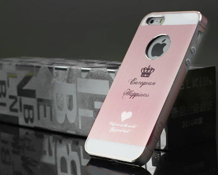 Чехол-накладка для Apple iPhone 5/5S/SE - iBacks Cameo Crown розовый