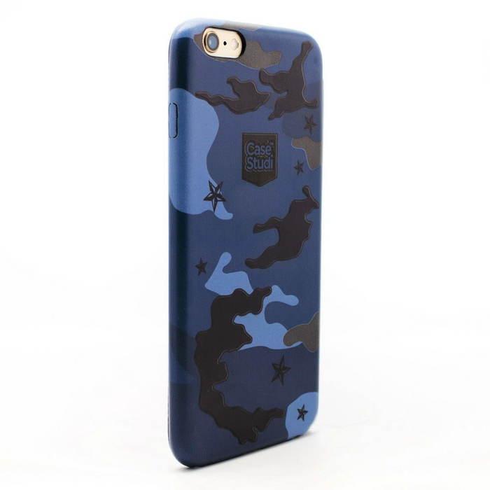 Ультратонкий чехол CaseStudi Military синий для iPhone 6/6S