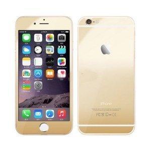 Защитное стекло зеркальное, золотистое для iPhone 6 Plus/6S Plus