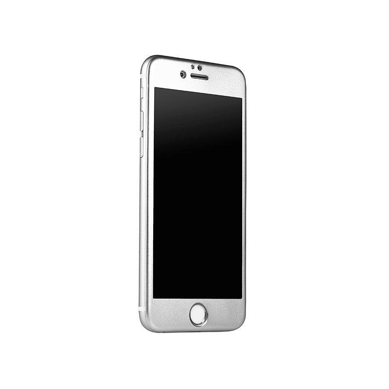 Захисне скло для Apple iPhone 6 / 6S - iBacks Full прозорий + сірий
