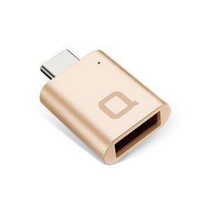 Переходник NoNDA с USB на USB-C золотистый