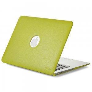 "Чехол-накладка для Apple MacBook Air 13"" - Kuzy Leather Hard Case зеленый"