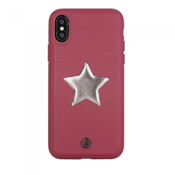 Чехол с рисунком Luna Aristo Astro Maroon красный для iPhone X/XS