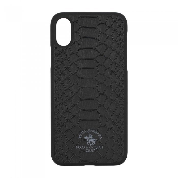 Кожаный чехол Polo Knight чёрный для iPhone X/XS