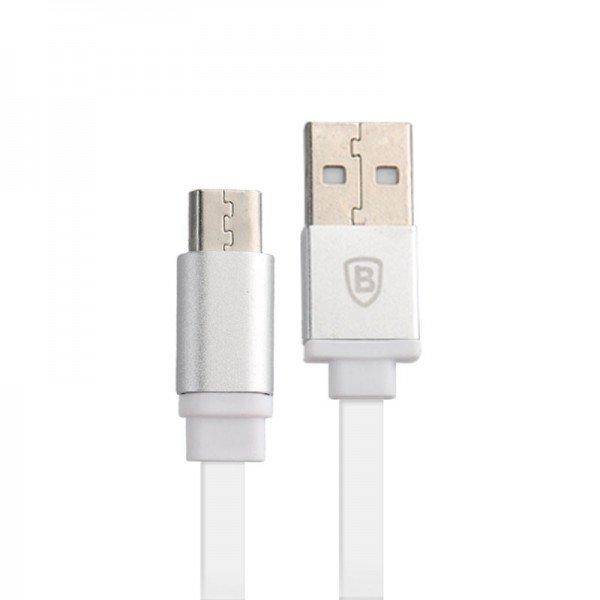 Кабель Micro-USB - Baseus серебристый