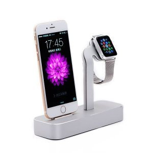Док-станция COTEetCI Base5 серебристая для iPhone, Apple Watch