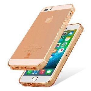 Полупрозрачный чехол Baseus Simple розовый для iPhone 5/5S/SE