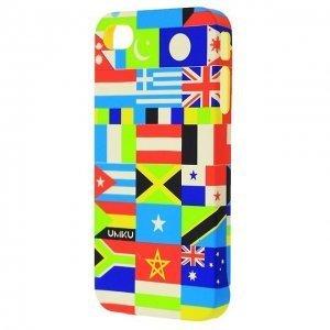 Чехол-накладка для Apple iPhone 4/4S - UMKU Flags разноцветный