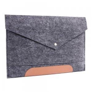 """Чехол-конверт Gmakin GM11 серый + коричневый для MacBook Air 13""""/Pro 13""""/ Pro 13"""" Retina"""