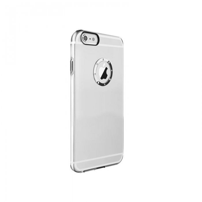 Чехол со стразами iBacks Inherent Diamond прозрачный + серебристый для iPhone 6/6S