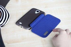 Чехол-книжка для Samsung Galaxy S4 - ROCK Elegant синий