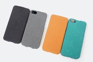 Чехол-флиппер для Apple iPhone 5/5S - ROCK Eternal оранжевый