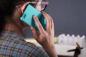 Пластиковый чехол ROCK Ethereal голубой для iPhone 5/5S/SE