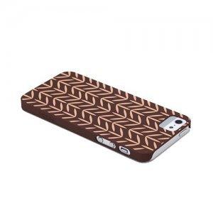 Чехол-накладка для Apple iPhone 5/5S - ROCK Impress коричневый