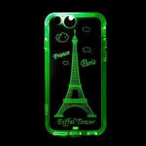 Светящийся чехол Plusme Fashion Lightning Flash Париж, прозрачный для iPhone 6/6S