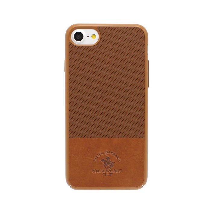 Кожаный чехол Polo Prestige коричневый для iPhone 8/7