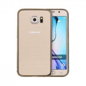 Чехол-бампер для Samsung Galaxy S6 - Totu Mellow Element черный + золотистый