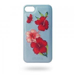 Кожаный чехол Polo Hawaii голубой для iPhone 8/7/6/6S/SE 2020