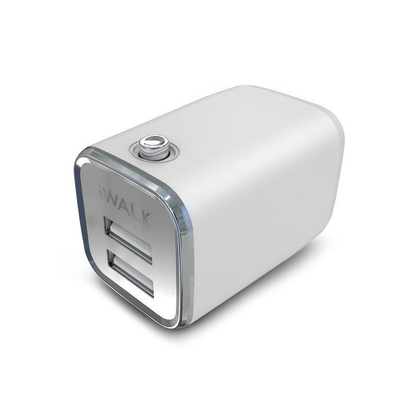 Сетевое зарядное устройство IWALK Dolphin, 2 USB, 2,1A белое