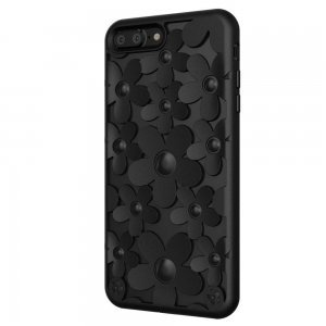 3D чехол SwitchEasy Fleur черный для iPhone 8 Plus/7 Plus