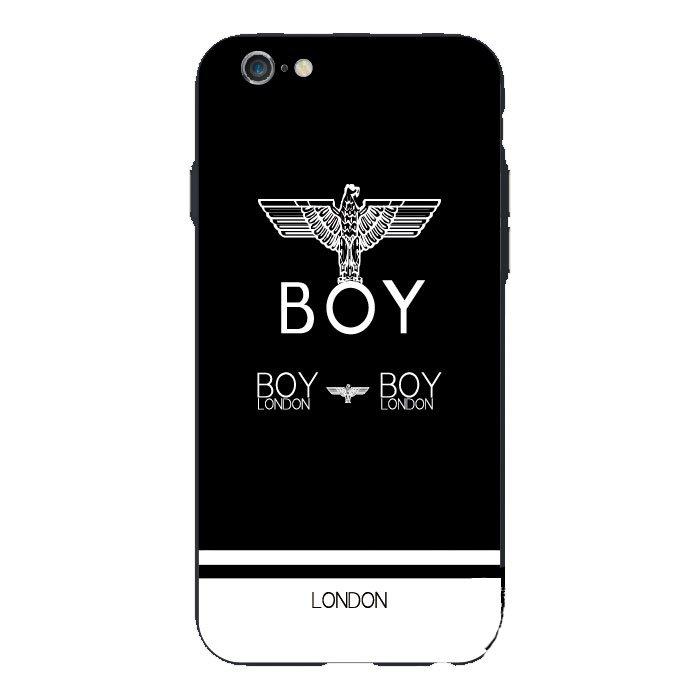 Чехол с рисунком WK Boy London черный + белый для iPhone 6/6S