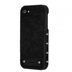 Чехол-накладка для Apple iPhone 5S/5 - Lucien Elements Le Baron чёрный + серебристый