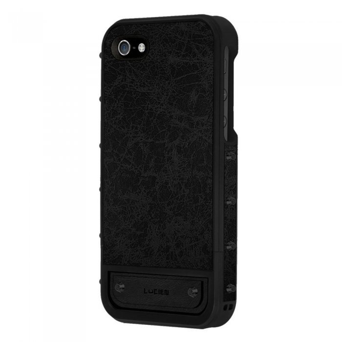 Чехол-накладка для Apple iPhone 5S/5 - Lucien Elements Le Baron Leather чёрный