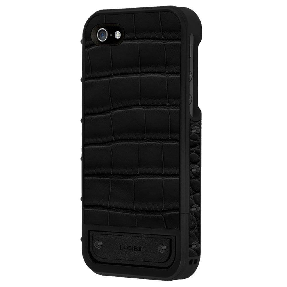 Чехол-накладка для Apple iPhone 5S/5 - Lucien Elements Le Baron Crocodile чёрный