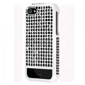 Чехол-накладка для Apple iPhone 5S/5 - Lucien Elements Vanilas Exclusive Selections Monochrome чёрный + белый