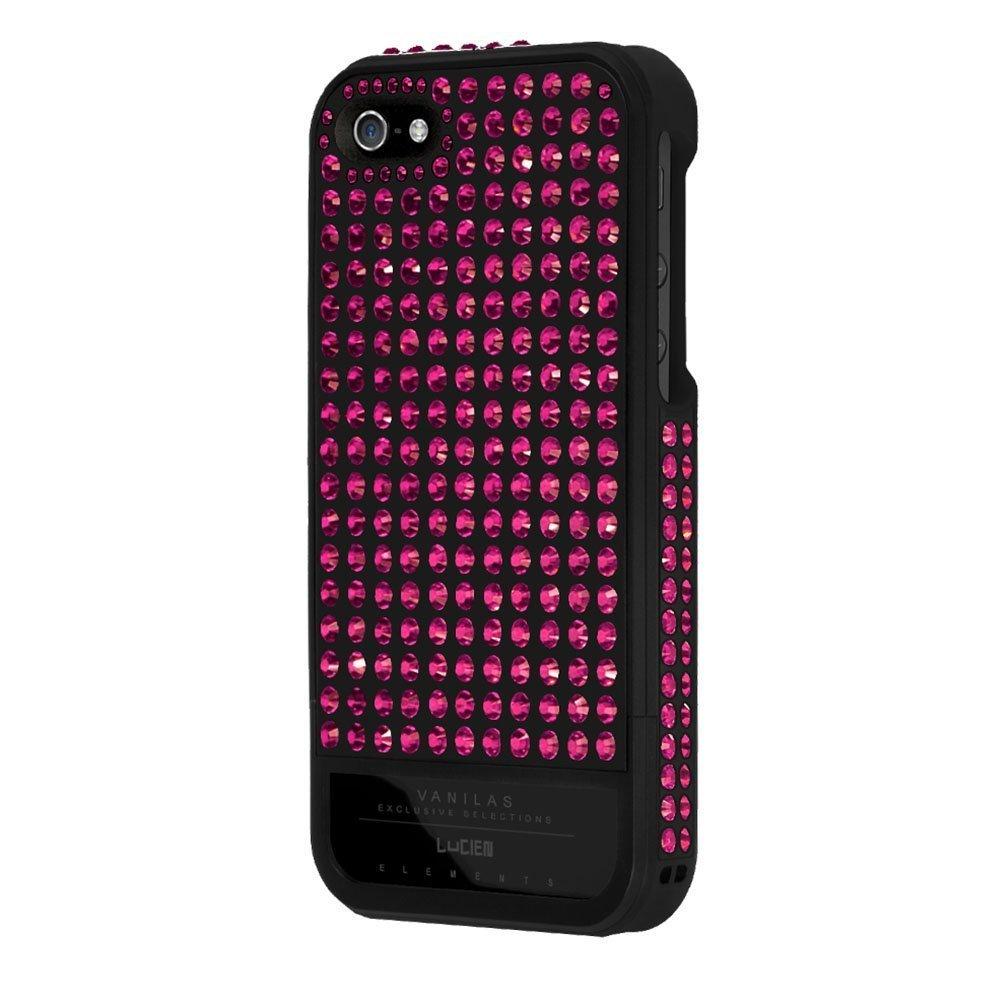Чехол-накладка для Apple iPhone 5S/5 - Lucien Elements Vanilas Exclusive Selections Rose чёрный + розовый
