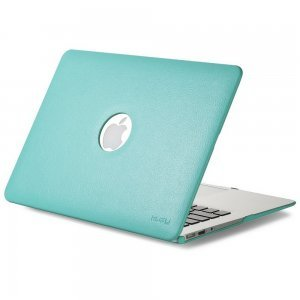 "Чехол-накладка для Apple MacBook Air 13"" - Kuzy Leather Hard Case голубой (Teal)"