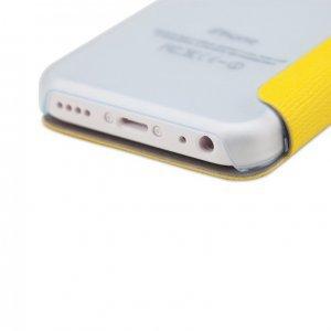 Чехол-книжка для Apple iPhone 5C - ROCK New Elegant желтый
