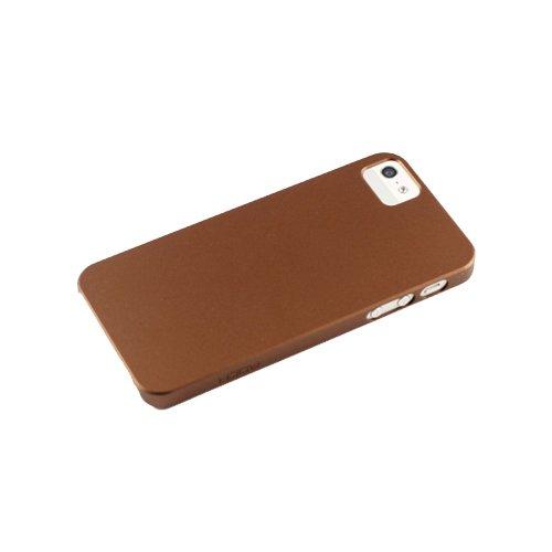 Пластиковый чехол ROCK New Naked коричневый для iPhone 5/5S/SE